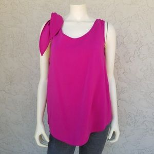 Vince Camuto Sleeveless Tie Shoulder Blouse